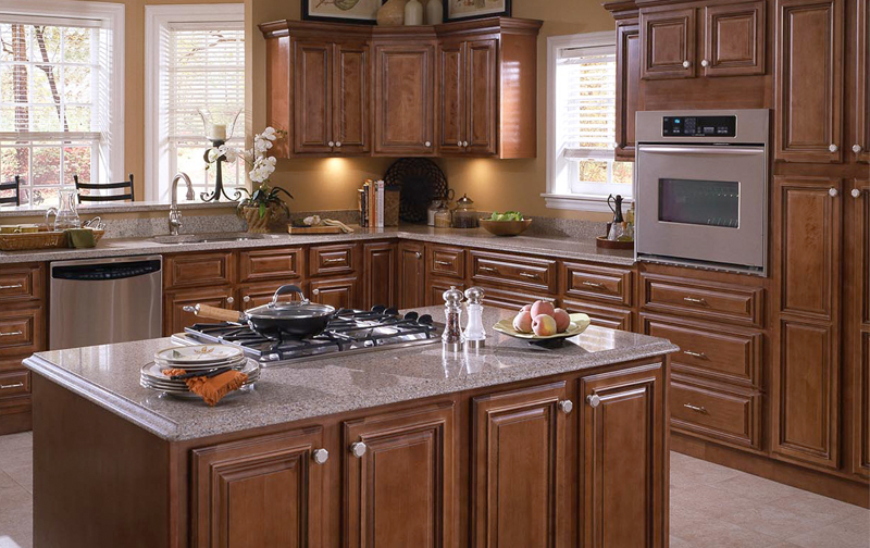 Cabinets countertopsbynathan for Chocolate maple glaze kitchen cabinets